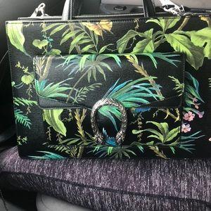 Gucci Tropical Dionysus Leather Black/Multi tote